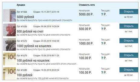 аукционы _offerinves